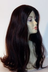 available for rent: long dark wig in human hair