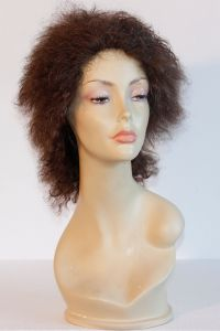 available for rent: crazy wig in human hair, electro shock effect, curly hair