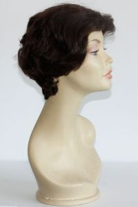 available for rent: short 50s look brown wig, with latex front hair