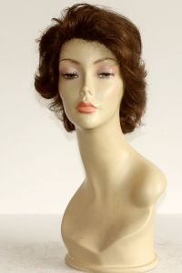 available for rent: medium Pierre Balmain Sofia Loren's style single knot human hair light brown wig